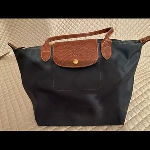 Small Long Handle Longchamp Le Pliage - AUTHENTIC